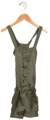 Ralph Lauren Girls' Sleeveless Button-Up Romper
