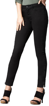 J Brand Jeans Major High-Rise Twill Jeans, Black
