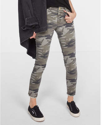 Express Mid Rise Camo Print Stretch Ankle Leggings $69.90 thestylecure.com