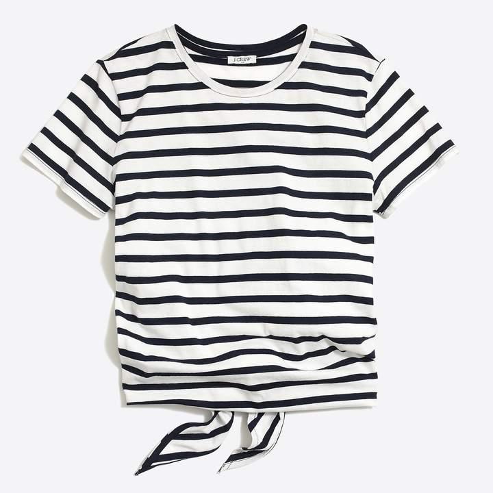 J.Crew Striped tie-back T-shirt