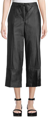 Laundry by Shelli Segal Faux-Leather Culottes Pants