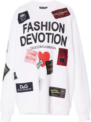 Dolce & Gabbana Fashion Devotion Printed Cotton Sweatshirt