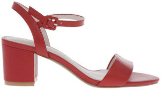Basque Roma Red Leather Sandal
