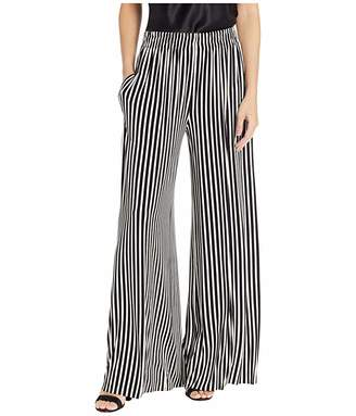 Norma Kamali KAMALIKULTURE by Side Stripe Boyfriend Elephant Pants