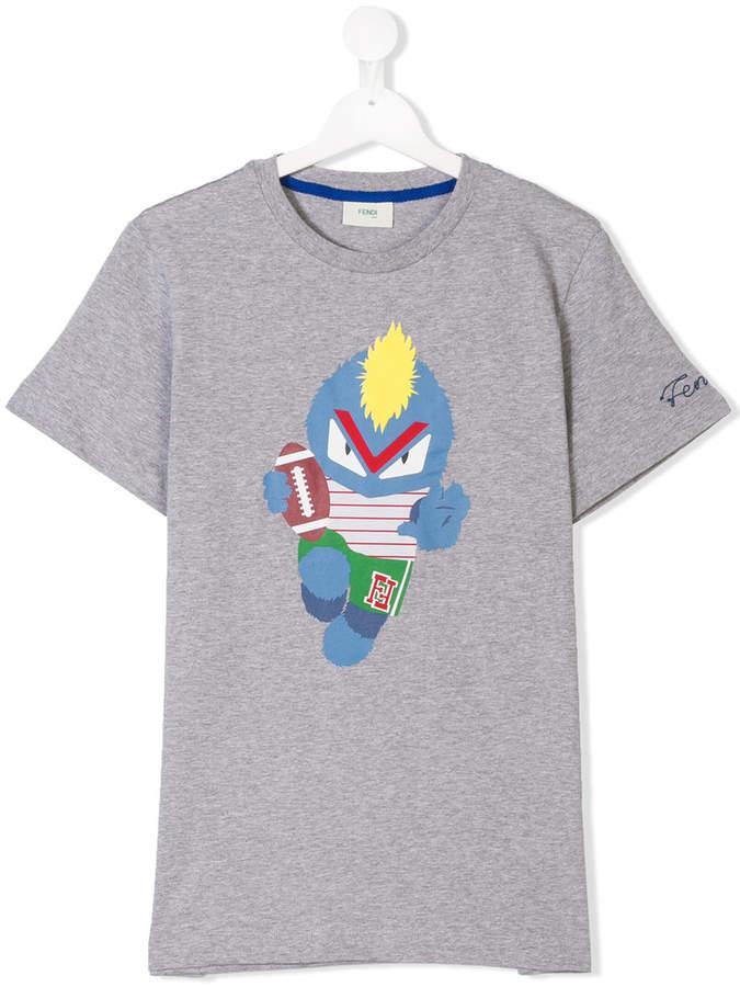 fendirumi print T-shirt