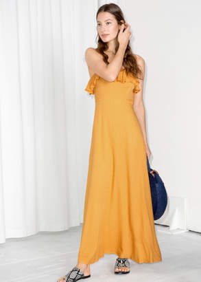 And other stories Flowy Ruffle Maxi Dress