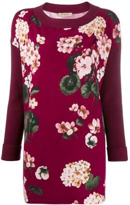Twin-Set floral print long-line jumper