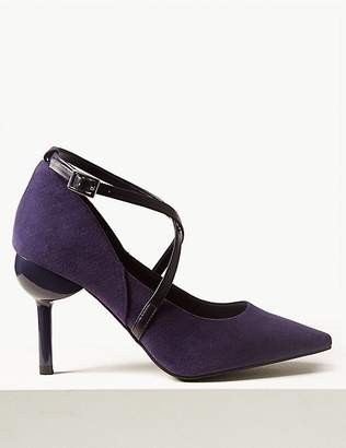 Marks and Spencer Cross Strap Court Shoes