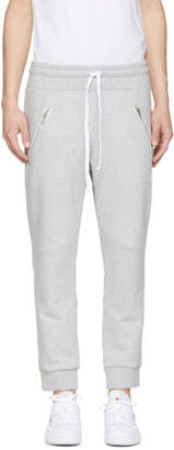 Baja East Grey Logo Moto Lounge Pants