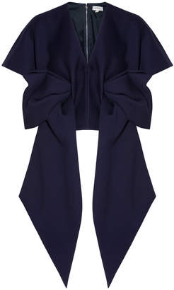 DELPOZO Neoprene Short Sleeve Bow Top