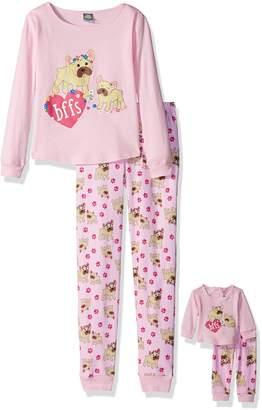Dollie & Me Big Girls' Snugfit Cotton Sleep Set