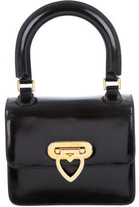 MoschinoMoschino Glossed Leather Crossbody Bag