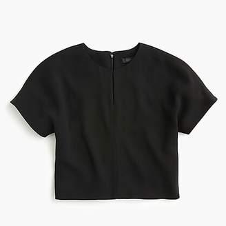 J.Crew Cropped cap-sleeve top in everyday crepe