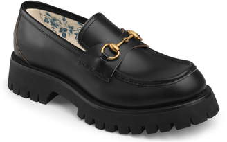Gucci Bit Lug Sole Loafer