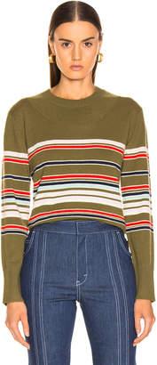 Sies Marjan Freddy Striped Sweater in Olive Multi | FWRD