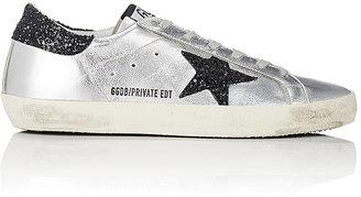Golden Goose Women's Women's Superstar Metallic Leather Sneakers $515 thestylecure.com