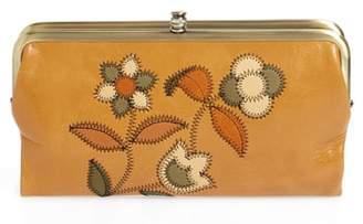 Hobo Lauren Continental Flower Stitch Leather Wallet