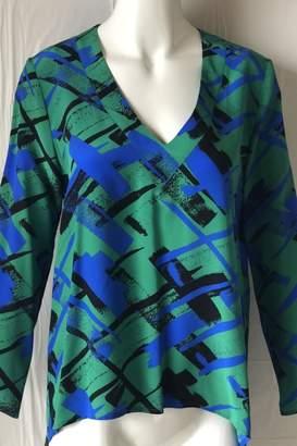 Amanda Uprichard Printed V-Neck Top
