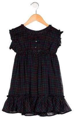 Ralph Lauren Girls' Plaid Ruffled Dress