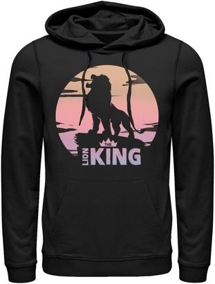 Licensed Character Men's Disney Lion King Sunset Crown Round Logo Hoodie