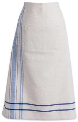 "DII Cotton French Stripe Bistro Half Waist Apron with Pocket and Extra Long Ties, 30 x 28"", Cooking, Baking Apron, Uniform for Bartender, Waiter, Waitress, Coffee shop, Restaurant-Nautical Blue"