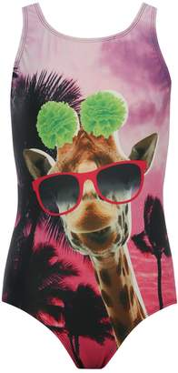 M&Co Teens' giraffe swimsuit