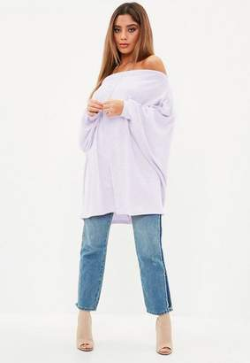 Missguided Brushed Bardot Volume Sleeve Tunic