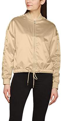 Urban Classic Women's's Ladies Satin Kimono Blouson Jacket Gold 109, S