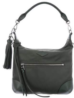 MZ Wallace Leather Trimmed Nylon Satchel