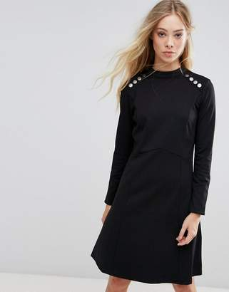 B.young Button Detail Dress