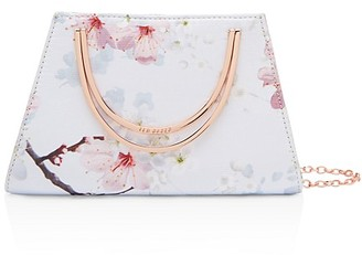 Ted Baker Oriental Blossom Metal Handle Clutch $109 thestylecure.com