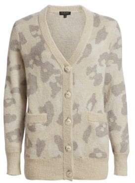 Rag & Bone Leopard Print Oversize Cardigan