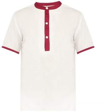 P. Le Moult - Half Button Cotton Pyjama Top - Mens - White