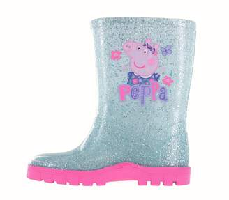 Peppa Pig Girls Glitter Floral Wellington Boots UK Size 8