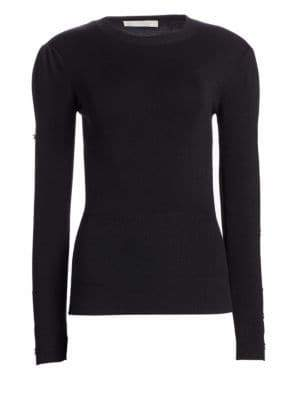 Jonathan Simkhai Wool Crewneck Sweater