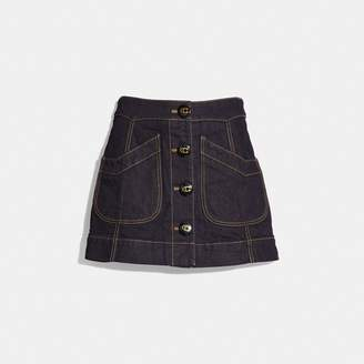 Coach Denim Skirt