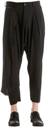 Isabel Benenato Viscose & Wool Pants W/ Striped Panel