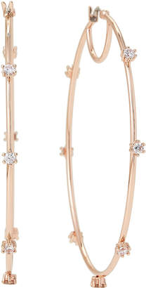 Vince Camuto Rose Gold-Tone Crystal Oversized Hoop Earrings