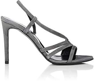 Barneys New York Women's Suede Slingback Sandals - Gray