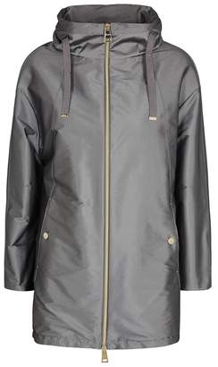 Herno Silver Hooded Shell Jacket