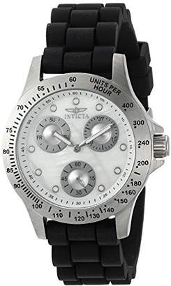 Invicta Women's 'Speedway' Quartz Stainless Steel and Silicone Casual Watch