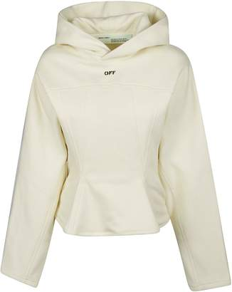 Off-White Off White Flared Jersey Hoodie