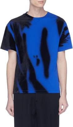 Maison Margiela Abstract velvet flock print T-shirt