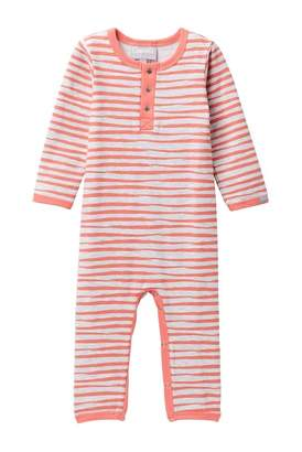 Coccoli Watercolor Striped Unionsuit (Baby)