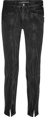 Givenchy Distressed High-rise Slim-leg Jeans - Black
