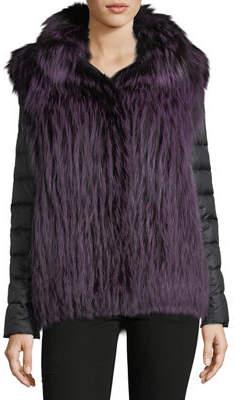 Gorski Fox Fur Jacket w/ Removable Down Sleeves