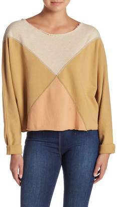 Free People Montauk Colorblock Knit Long Sleeve Pullover