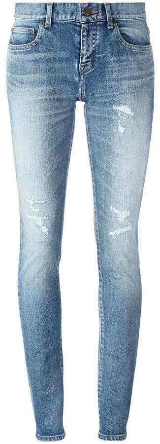 Saint LaurentSaint Laurent mid-rise skinny fit jeans