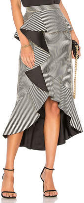 Alice + Olivia Alessandra Peplum Ruffle Skirt