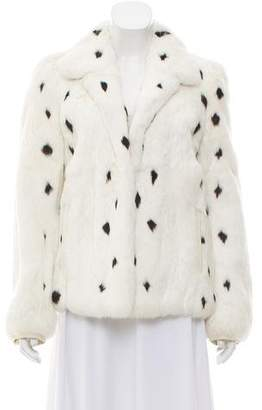 Saint Laurent Fur Notched Lapel Jacket